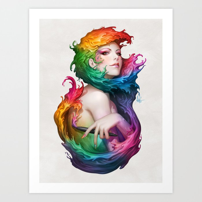 Discover the motif ANGEL OF COLORS by Stanley Artgerm Lau as a print at TOPPOSTER
