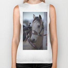 Horse in bridle Biker Tank