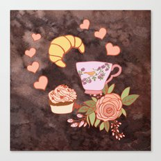 Romantic breakfast   Canvas Print
