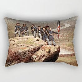 Union Soldiers On Lookout Mountain Rectangular Pillow
