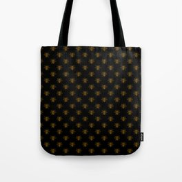 Foil Bees on Black Gold Metallic Faux Foil Photo-Effect Bees Tote Bag