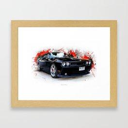 Dodge Challenger  SRT Framed Art Print