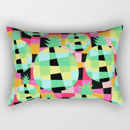 Pop-Pineapple Rectangular Pillow