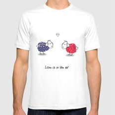 Love is in the air MEDIUM White Mens Fitted Tee