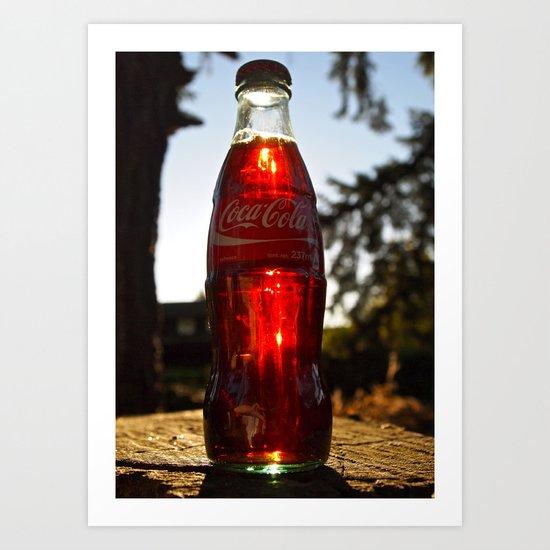 Coca-Cola mini Art Print