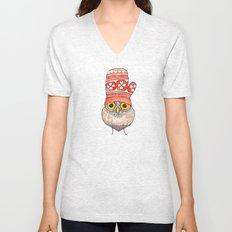 mitten owl Unisex V-Neck