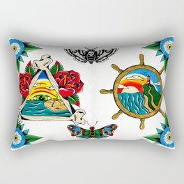 Beachs and Bugs Rectangular Pillow