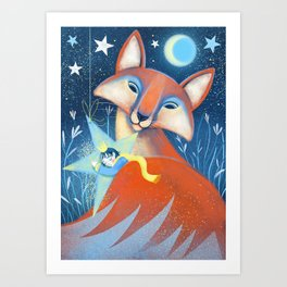 the prince&the fox Art Print