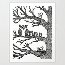 Neighborhood Tree Art Print