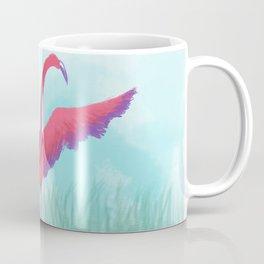 Majestic Flying flamingo drawing Coffee Mug