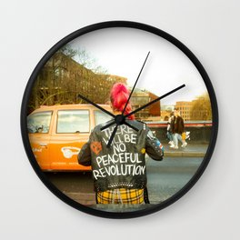There Will Be No Peaceful Revolution Wall Clock