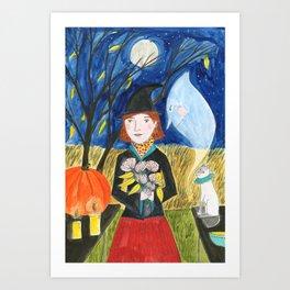 witch Halloween Art Print