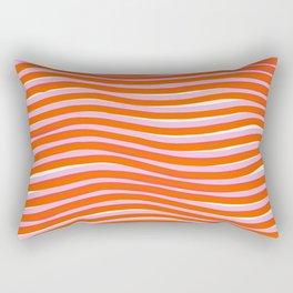 electric zebra stripes Rectangular Pillow