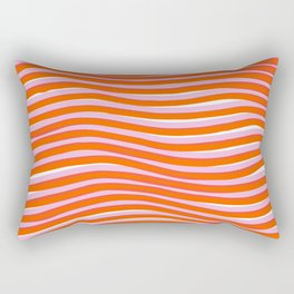 electric zebra stripes Rectangular Pillow