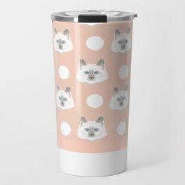 Roxie - White Birman Cat, Cute Kitten, White Cat Blue Eyes, Cell Phone Case, Cat Lady Gift Travel Mug
