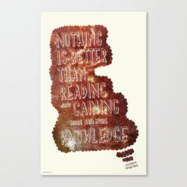 Hand-Drawn Type Stephen Hawking Quote Canvas Print