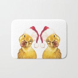 Christmas yellow duckling Bath Mat