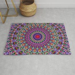 Vivid Lace Ornament Mandala Rug