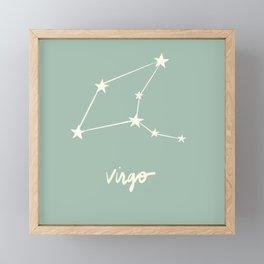 Virgo - Zodiac Constellation Framed Mini Art Print