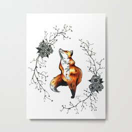 Dainty Fox Metal Print