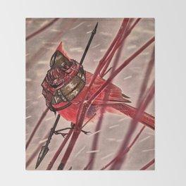 Birds In Armor 6 Throw Blanket