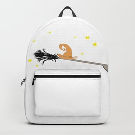 Witch Hat & broom Backpack