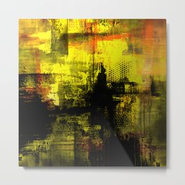 Sail Away - Abstract painting of a boat sailing into the horizon Metal Print