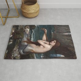 John William Waterhouse, Mermaid, 1900 Rug