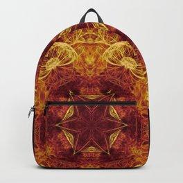 Magical glowing fractal mandala Backpack