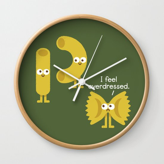 Pasta Party Wall Clock
