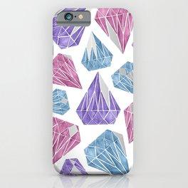 Silver Diamonds iPhone Case