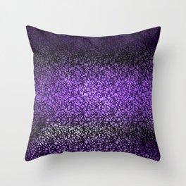 Deep Purple Stain Glass Throw Pillow