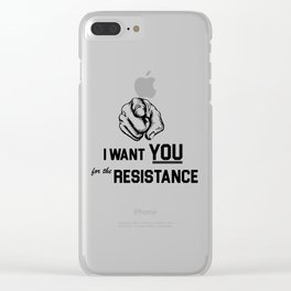 I want you for the resistance Clear iPhone Case