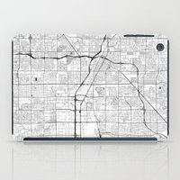 las vegas iPad Cases featuring Las Vegas Map Gray by City Art Posters