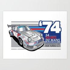 PORSCHE - 911 RSR GROUP S Art Print