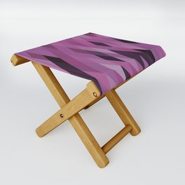 Muted Berry Color Harlequin Pattern Folding Stool