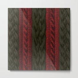 Cable Knit Stripe Metal Print