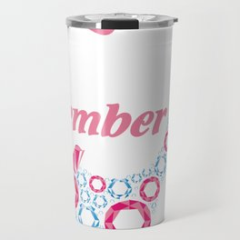 A queen was born in December, birthday art, birthday lady Travel Mug