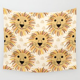 Lion Safari Wall Tapestry