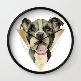 Puppy Eyes 4 Wall Clock
