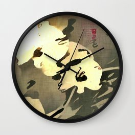 Asian Orchids Wall Clock