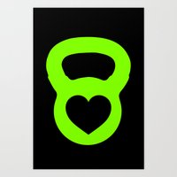crossfit Art Prints featuring Crossfit Love by AimHigh