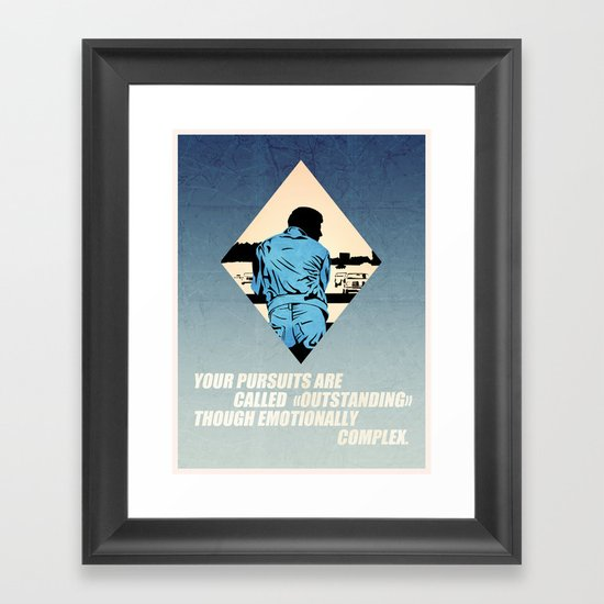 Emotionally complex Framed Art Print