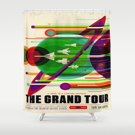 Vintage poster - The Grand Tour Shower Curtain