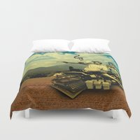hunter s thompson Duvet Covers featuring Hunter S by mattdunne