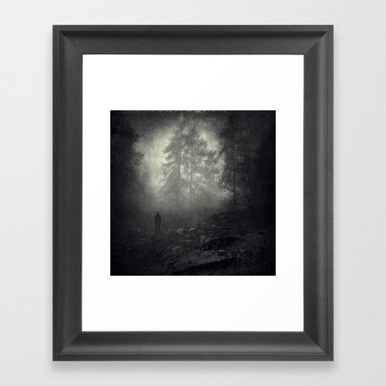 as far as I could go Framed Art Print