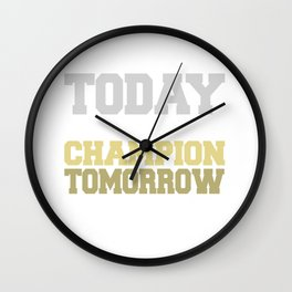 Practice Perfect Today Play Like A Champ Wall Clock
