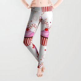 Christmas Cupcakes Leggings