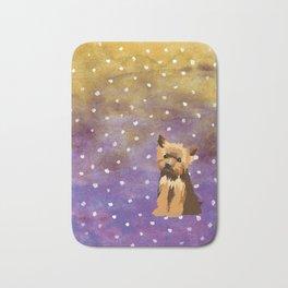 Yorkshire Terrier Watercolour Bath Mat