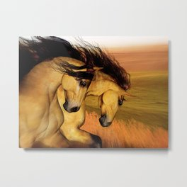 HORSES - The Buckskins Metal Print